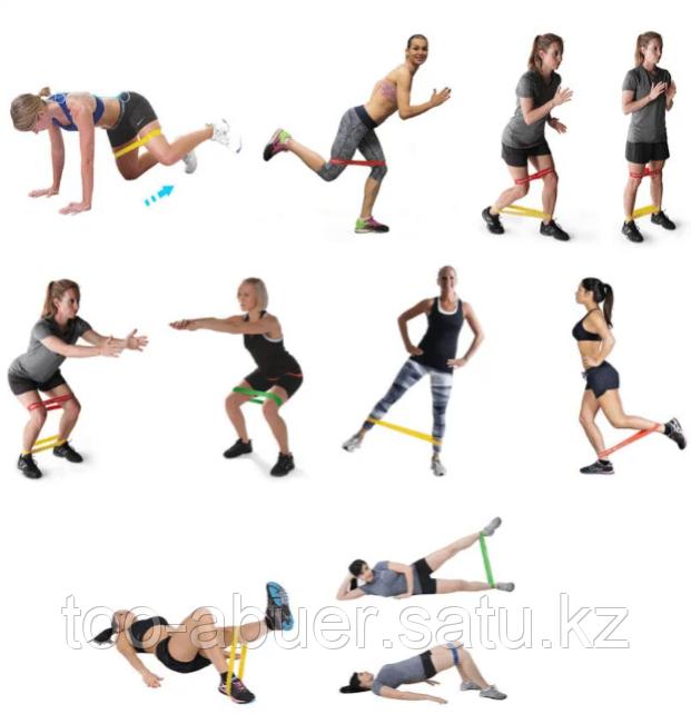 Набор резинок для фитнеса.  В наборе 3 шт. 3 уровней нагрузки.