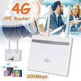 4G роутер (модем) LTE 300 Мбит/с CPE WIFI работает на любой сим карте, фото 3