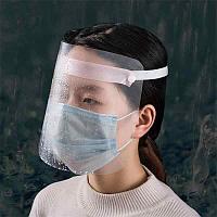 Маска-экран пластиковая прозрачная для защиты лица