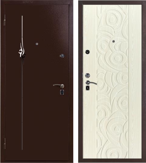 Дверь входная металлическая утепленная ДС 368 ольха