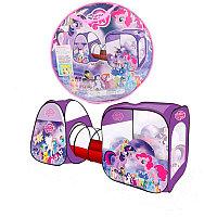 Большая детская палатка с тоннелем Little Pony, фото 1
