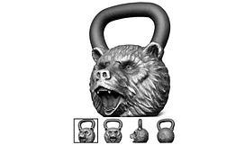 """Гиря чугун """"Медведь"""" 16,0 кг"""