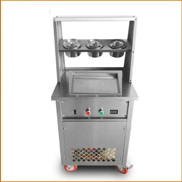 Фризер для ролл мороженого KCB-1F Foodatlas (контейнеры, световой короб, стол для топпингов)