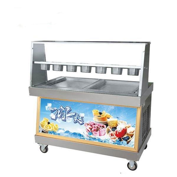 Фризер для ролл мороженого KCB-2Y Foodatlas (контейнеры, стол для топпингов, 2 компрессора)