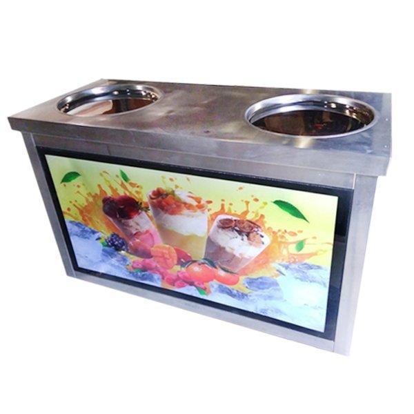 Фризер для ролл мороженого KCB-2Y Foodatlas (стол для топпингов)