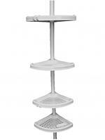 Угловая полка, 4-х ярусная, телескопич. стальная трубка с порошковым покрытием,24,5*24,5см( N02 ), фото 1