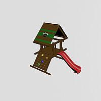 """Игровой комплекс """"Норд"""", цветная крыша, лестница. горка усиленная антивандальная, скалодром широкий"""