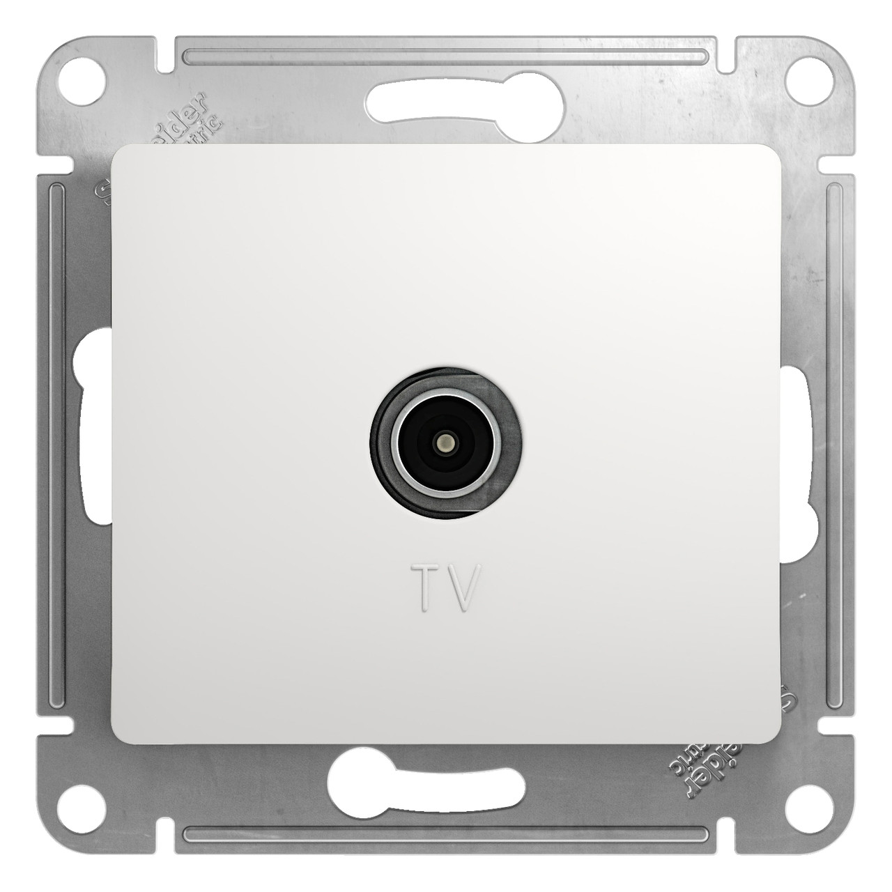 GSL000192 Glossa - ТВ розетка - проходная - 4 - белый