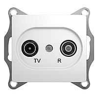 GSL000194 Glossa - ТВ/радио розетка - проходная - 4 - белый
