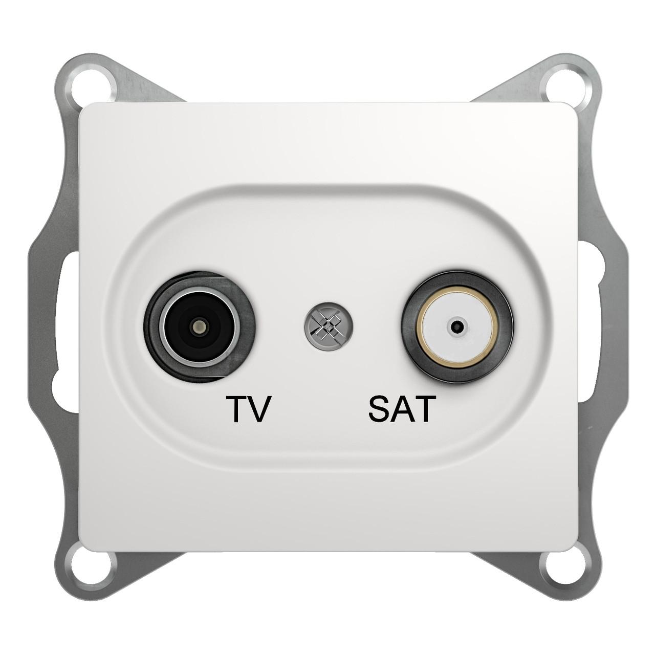 GSL000197 Glossa - ТВ/спутниковая розетка - оконечная розетка - 1 - белый