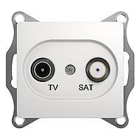 GSL000198 Glossa - ТВ/спутниковая розетка - проходная - 4 - белый