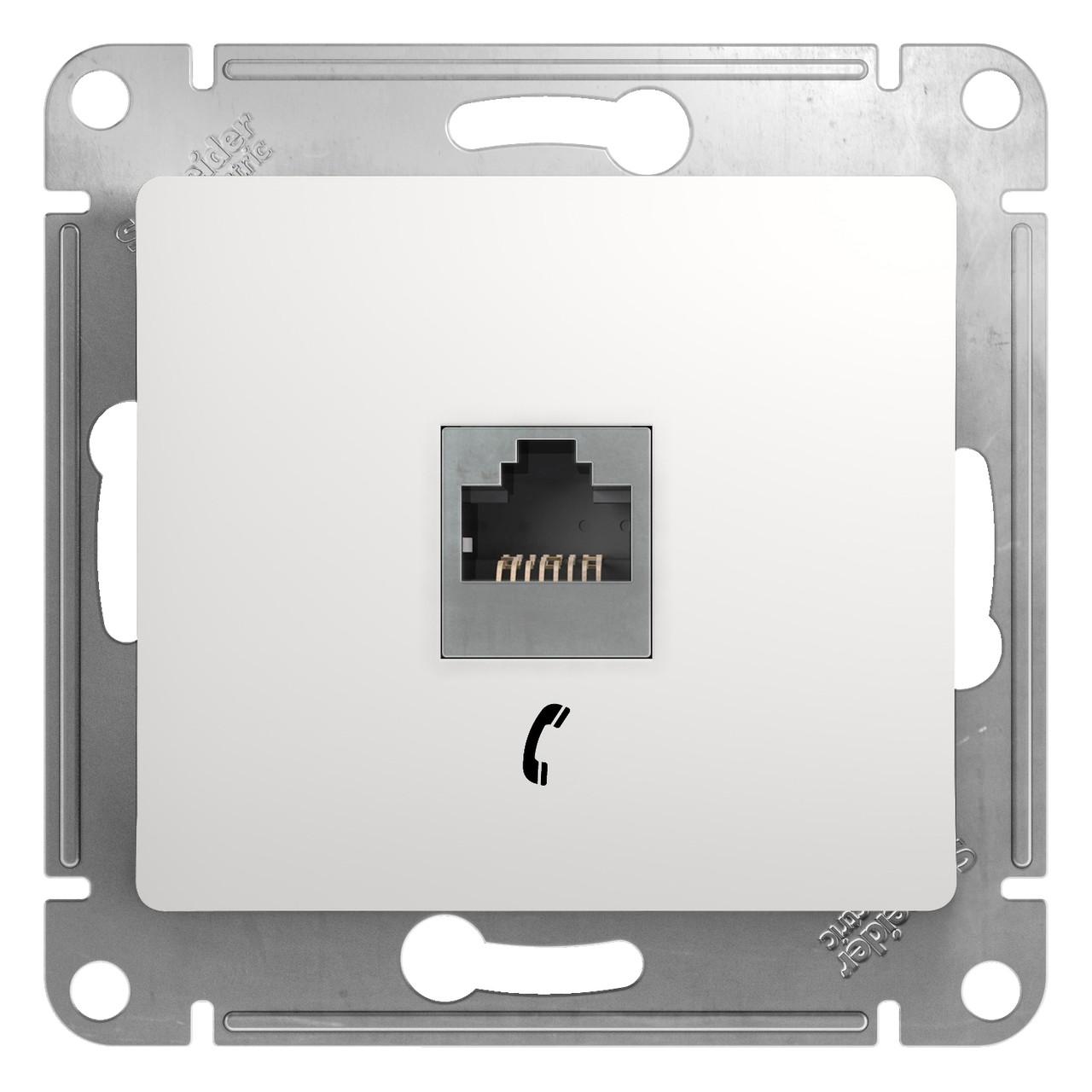 GSL000181T Glossa - телефоннная розетка - RJ11 - белый