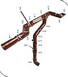 Желоб водосточный d=125 мм, 3м, RUPLAST (коричневый)                 тел./watsapp +7 701 100 08 59, фото 3