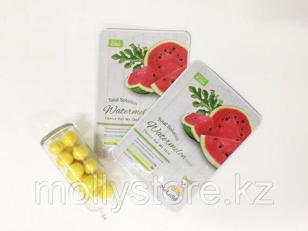 Meloso Total solution Watermelon mask Маска тканевая для лица с экстрактом арбуза, 25гр