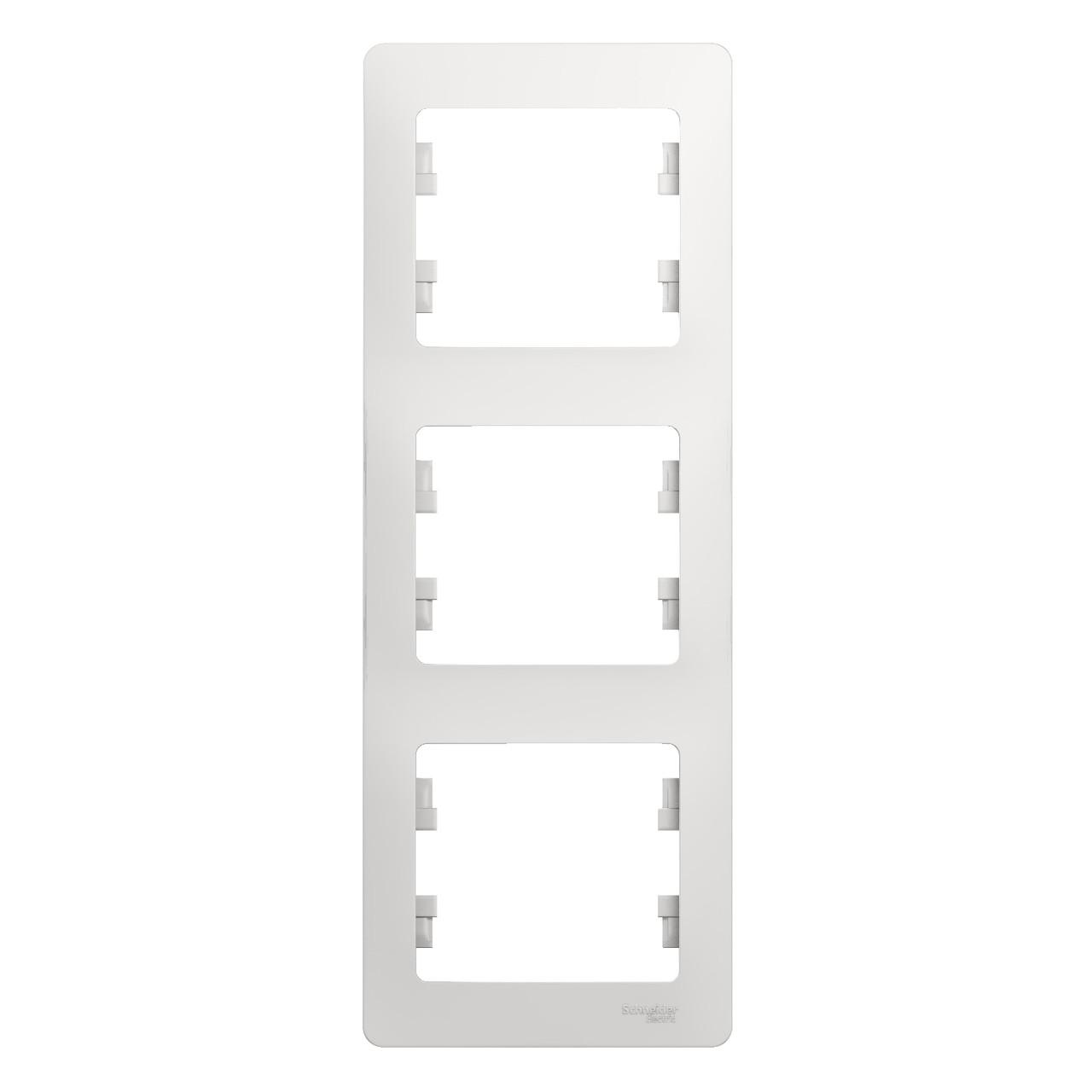 GSL000107 Glossa - вертикальная - 3-постов.  - белый