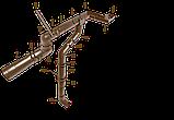 Колено (полуотвод) 60град d=90 мм, RUPLAST (Коричневый)            тел./watsapp +7 701 100 08 59, фото 2