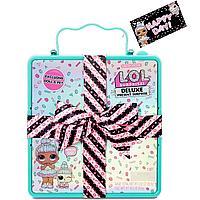 LOL Surprise Deluxe Present - Лол сюрприз коробка бирюзовая с бантом