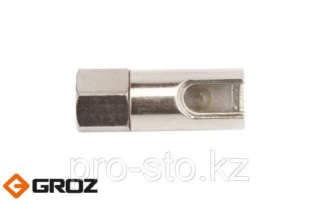 Переходник-насадка цилиндрической формы из черных металлов для смазочного шприца GROZ HC/R/01/B Арт. GR43550