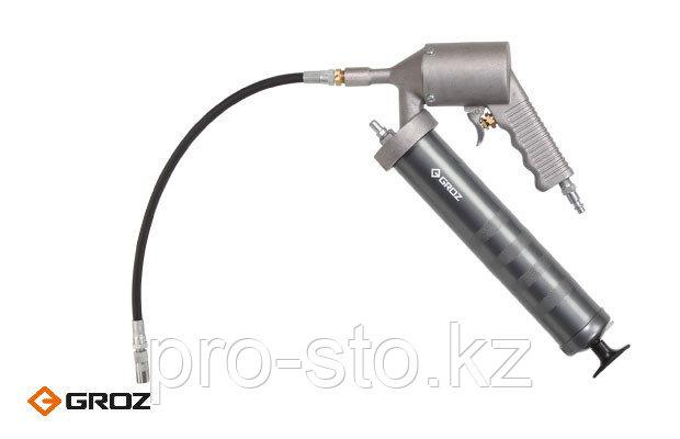 Шприц для смазки пневматический автоматического действия с гибким шлангом и насадкой. Арт. 43323