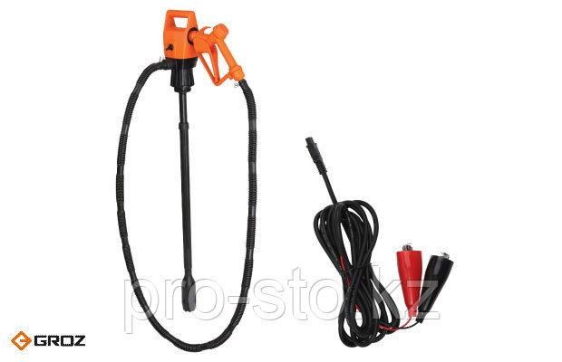 Комплект: Электрический насос для бочек и еврокубов с силовым кабелем 12 V