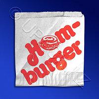 PAP STAR Пакет бумажный 13,5х13см белый с рисунком для гамбургеров 1000 шт/уп