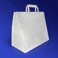 PAP STAR Пакет-сумка бумажная прочная 27х32+17см ручки плоские 70гр/м2