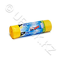 PAP STAR Мешок для мусора 60л 20мк шнур 64х71см желтые 20 шт/рул
