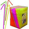 PAP STAR Трубочка d0,5x24см разноцветная неоновая 1000шт/уп box Ps
