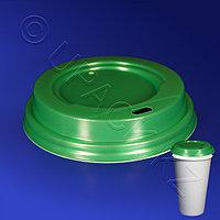 Виридо Крышка к стаканам d9,0см с питейником зеленая 100 шт/уп