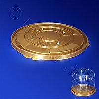 Kazakhstan Дно к упаковке для торта d27см внешн золотистое ПЭТ 100 шт/кор ПР-Т-233 ДШ