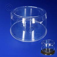 Kazakhstan Крышка к упаковке для торта d23,4х12,5см внутр 5100мл ПЭТ прозрачная 100 шт/кор ПР-Т-233К