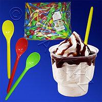 PAP STAR Ложка для мороженого 12,5см разноцветная 250шт/уп Ps