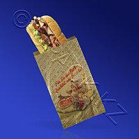 BUNZL Пакет бумажный 28х16х6см коричневый с рисунком 125шт/уп