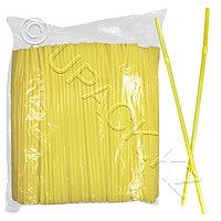 Kazakhstan Трубочка d0,5x24см желтая 500шт/уп Ps с гофрой