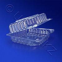 РОССАНПАК Контейнер пластиковый 470мл прозрачный с нераздельной крышкой