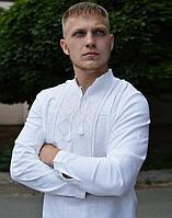 Вышиванка мужская Волопас лён белый