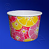 Виридо Креманка бумажная 250мл для холодного Цитрус красный