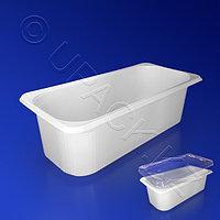 РОССАНПАК Контейнер пластиковый 4400мл PET/PS белый 32,7х14,0х10,5см
