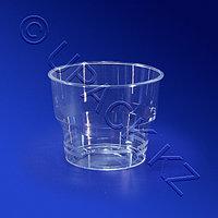 PAP STAR Стакан пластиковый 100мл прозрачный 15шт/уп плотный