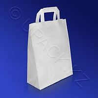 PAP STAR Пакет-сумка бумажная прочная 26х22+11см ручки плоские 70гр/м2