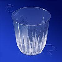 Аэроснаб Стакан пластиковый PS 250мл прозрачный d8,8см h8см плотный Баккара