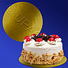 Kazakhstan Подставка п/торт d28см золотистая 100шт/уп картон ламинированный фольгой