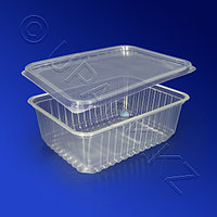 Kazakhstan Контейнер пластиковый 1000мл PP прозрачный с крышкой 18х13х6,5см