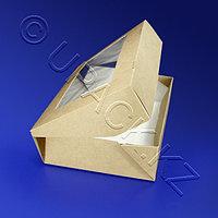 Россия Упаковка крафт/ламин 20х12х4см 1000мл с окном ECO TABOX 1000