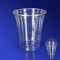 Россия Стакан пластиковый PET 300мл прозрачный d9,5см 50 шт/уп