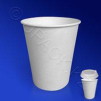 Россия Стакан бумажный 165мл для горячих напитков белый 50 шт/уп