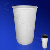 Виридо Стакан бумажный 400мл двухслойный белый 15 шт/уп