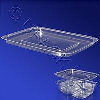 Kazakhstan Крышка PS прозрачная к контейнеру пластиковому PK155,205,250 10,5x7,5см КС кр