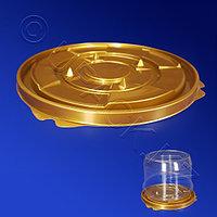 Kazakhstan Дно к упаковке для торта d19,8см внешн золотистое ПЭТ 200 шт/кор ПР-Т-163 ДШ
