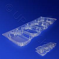 KREIS M Контейнер пластиковый на 4 секции 720мл прозрачный 34,5х13,2х2,4см 4х180мл